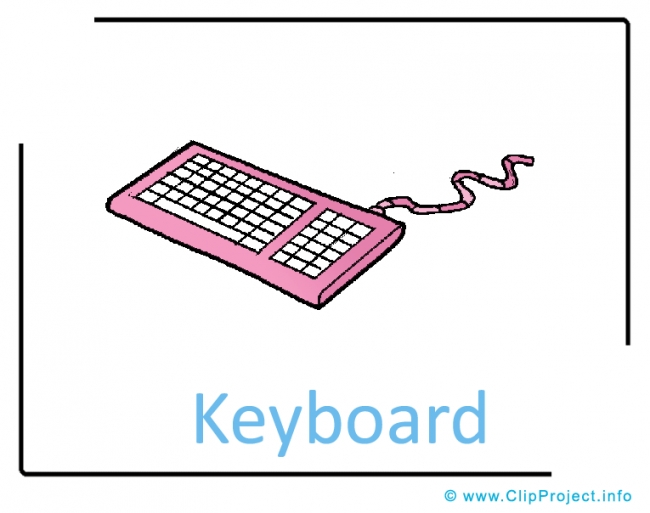 Keyboard Clipart Image free - Computer Clipart Images free