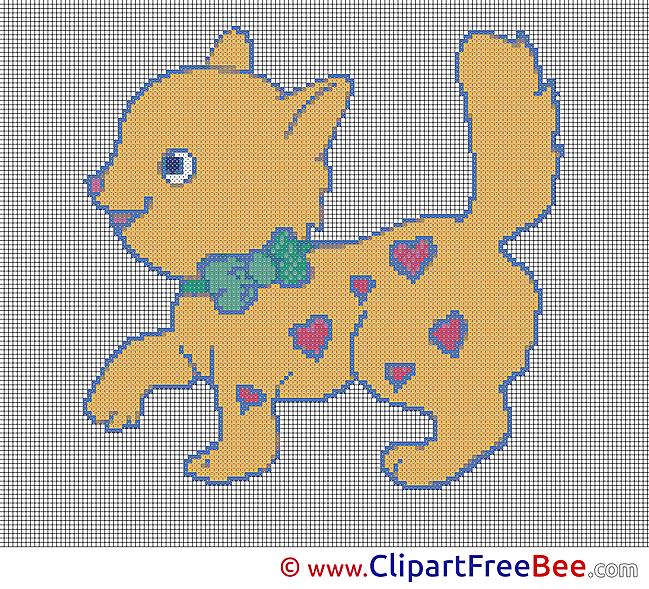 Cat printable Cross Stitches free