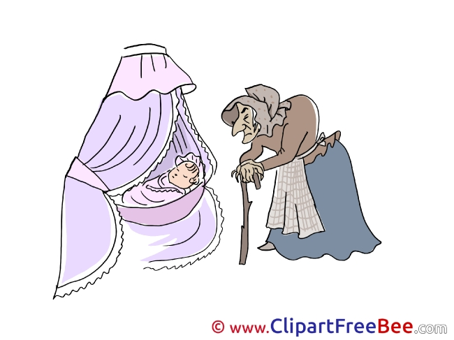 Baby with Crone Pics Fairy Tale free Cliparts