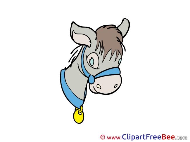Donkey printable Illustrations Fairy Tale
