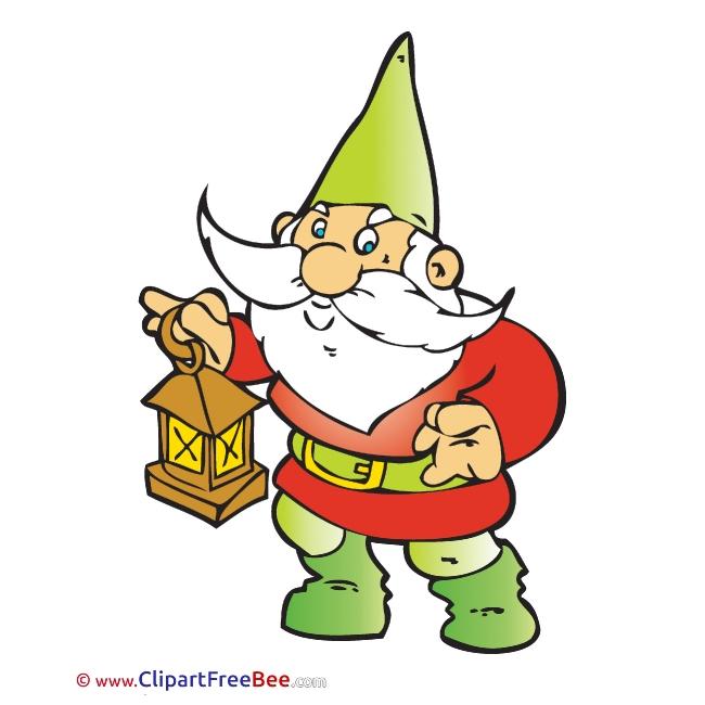 Lamp Dwarf Fairy Tale download Illustration