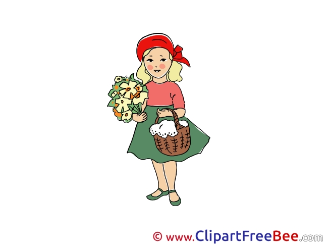 Little Red Riding Hood Fairy Tale Illustrations for free