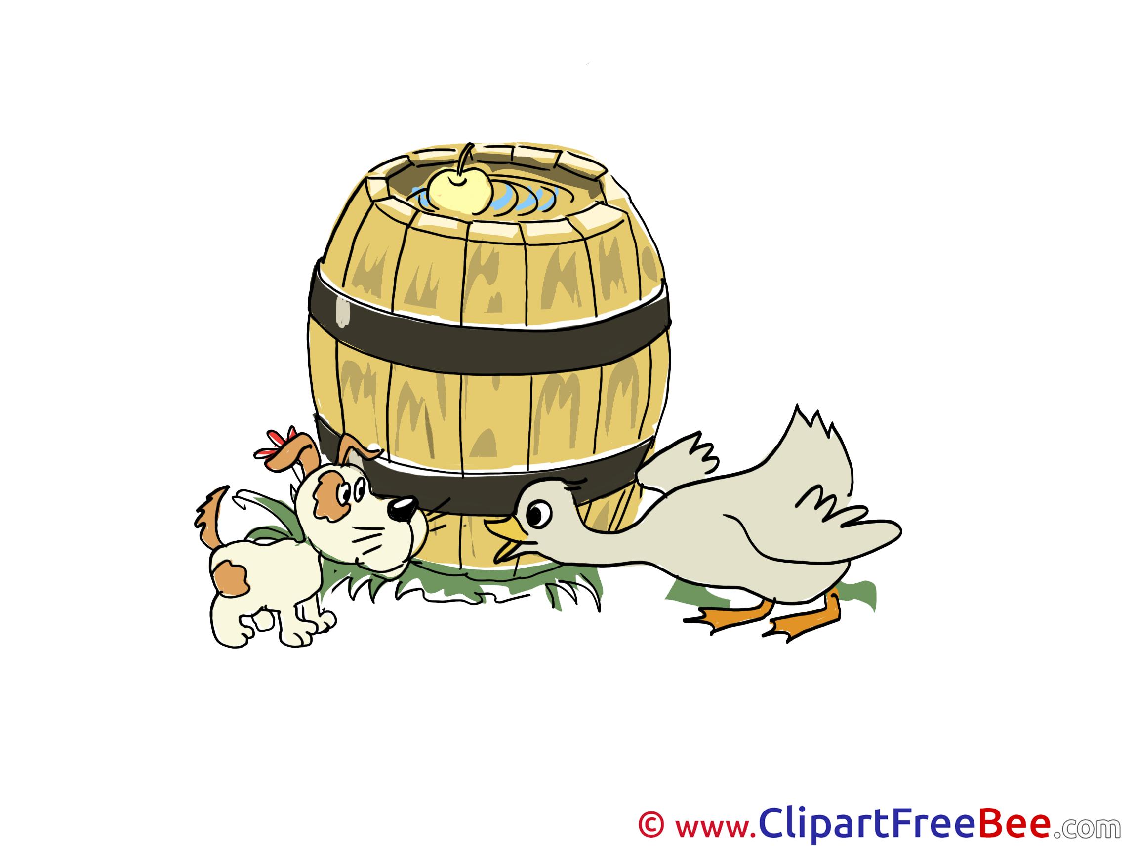 Barrel Duck Dog Clipart free Illustrations