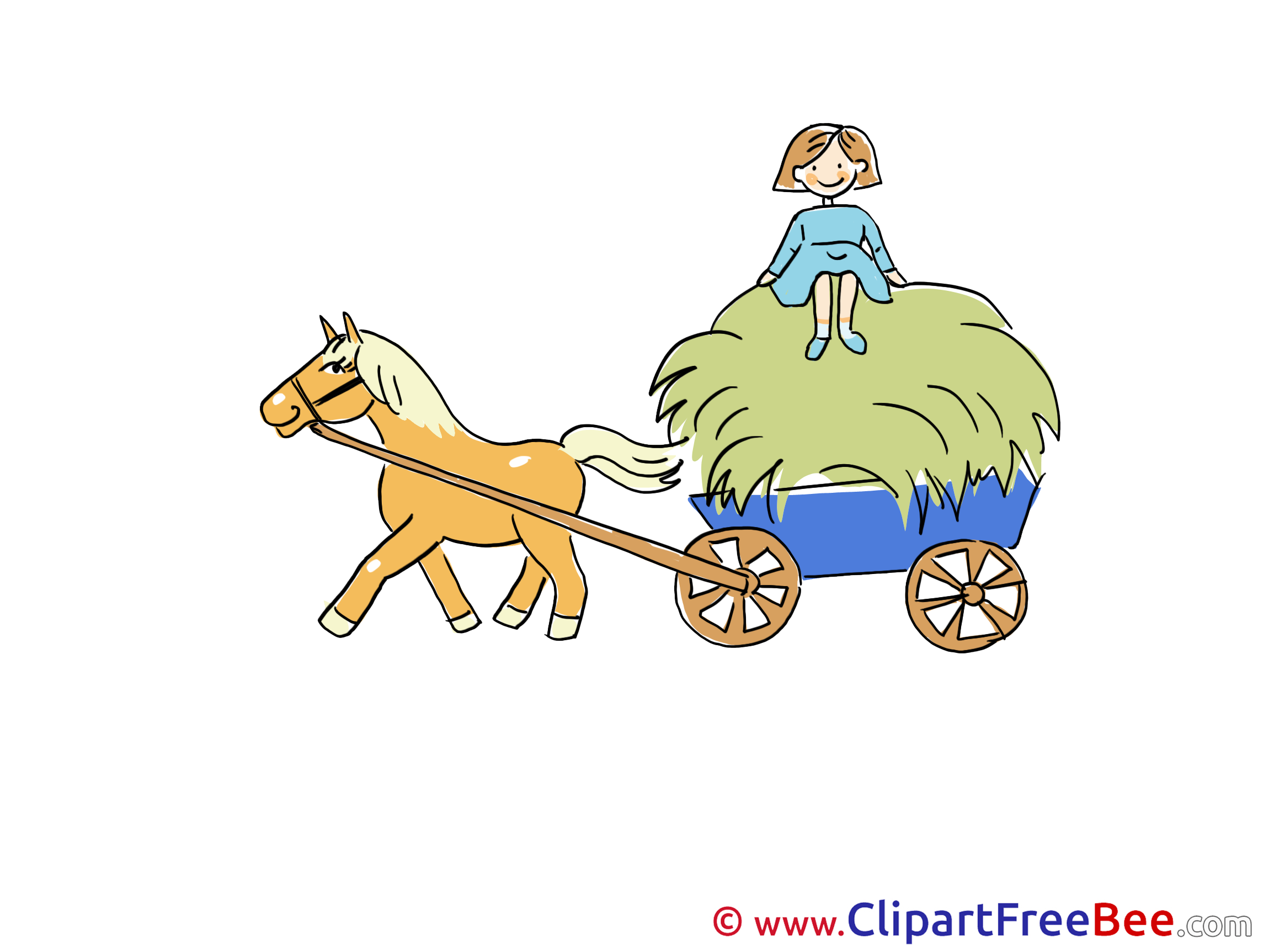 Cart Horse Clipart free Image download