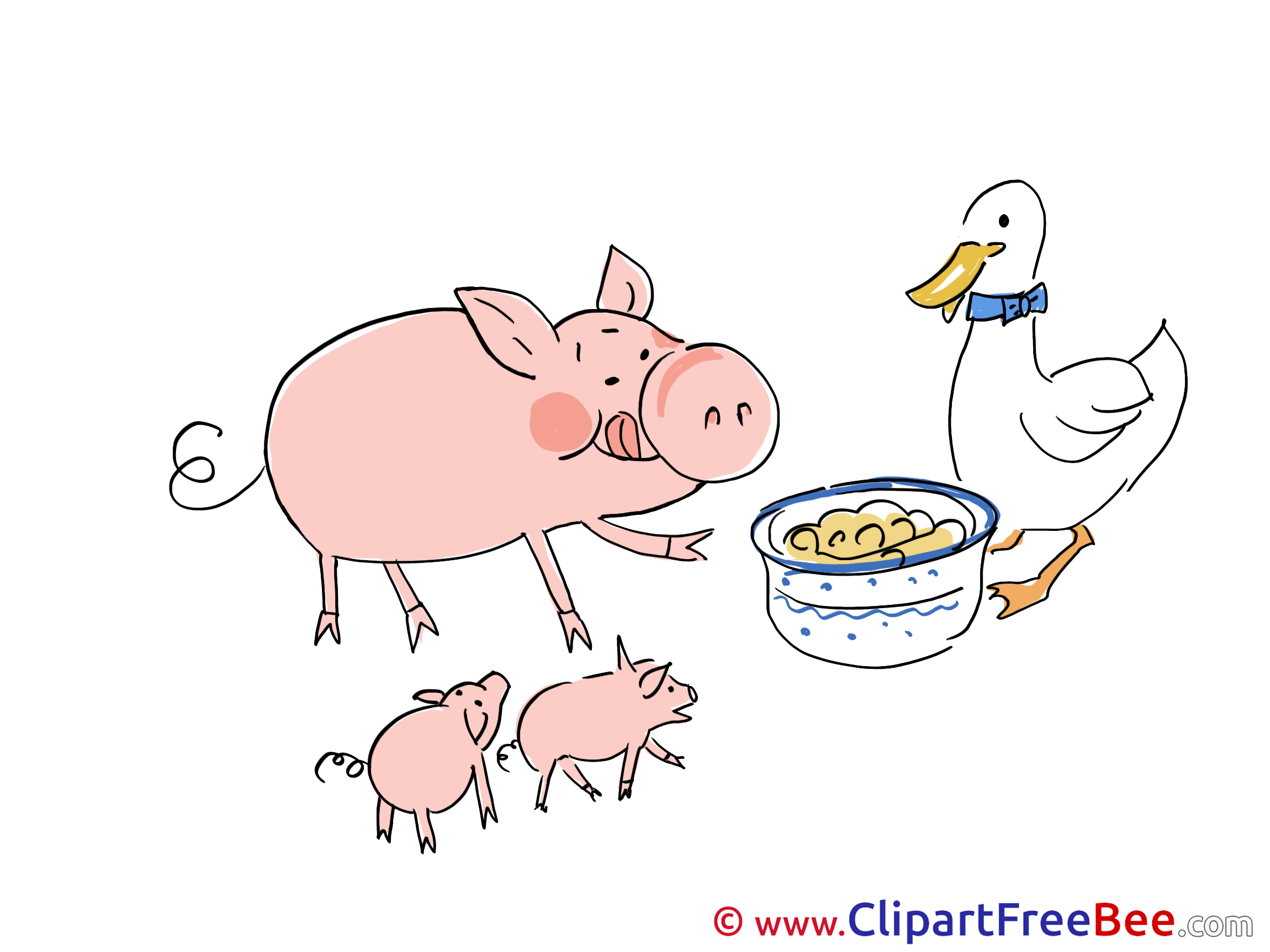 Eating Pigs Duck Pics download Illustration