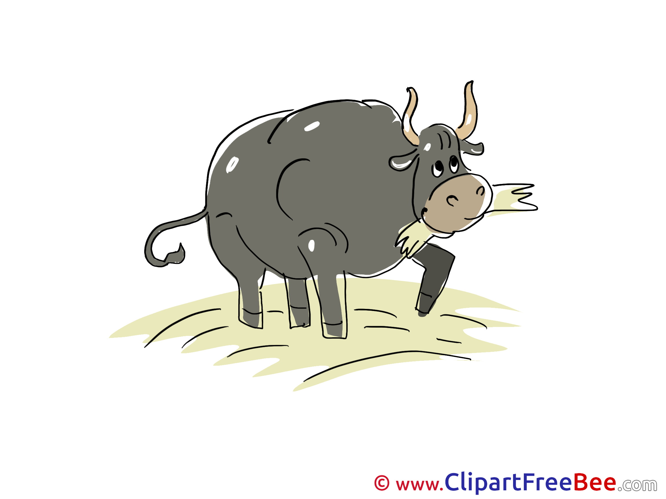 Hay Bull download Clip Art for free