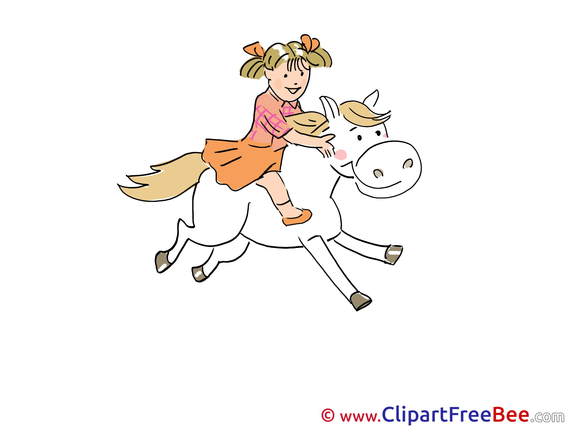 Rider Horse Pics printable Cliparts