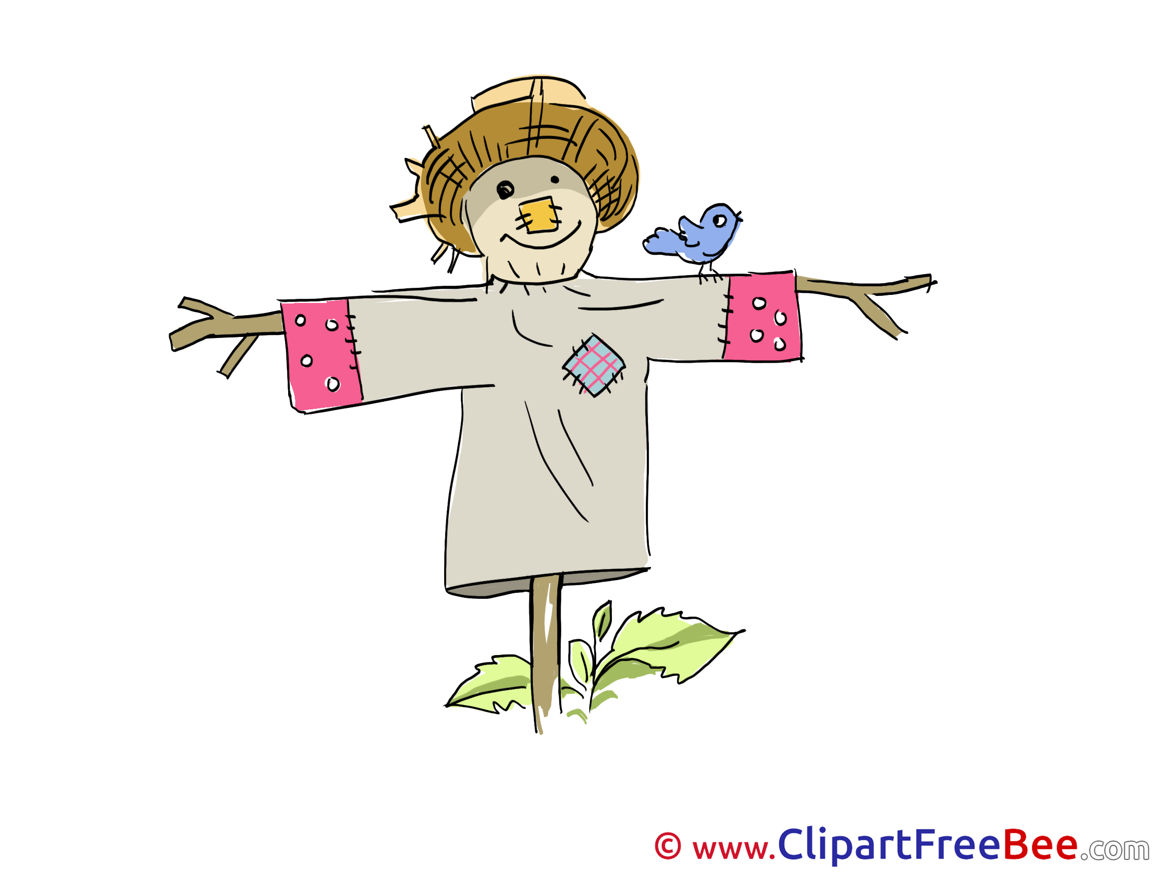 Scarecrow Bird free Cliparts for download