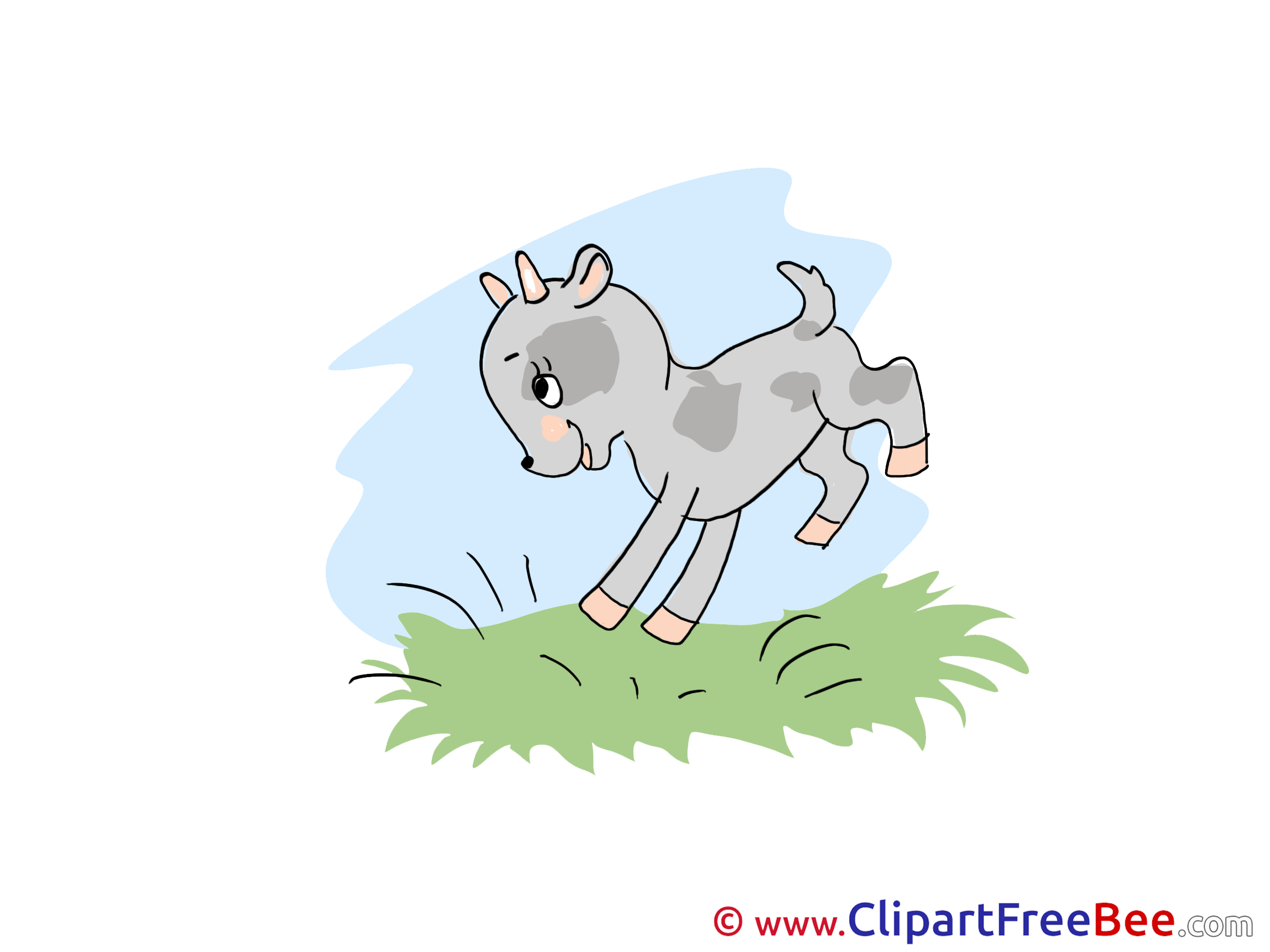 Sky Grass Goatling Clipart free Image download