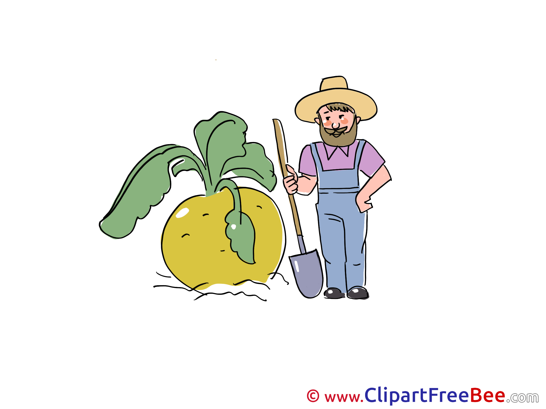 Turnip Man download printable Illustrations