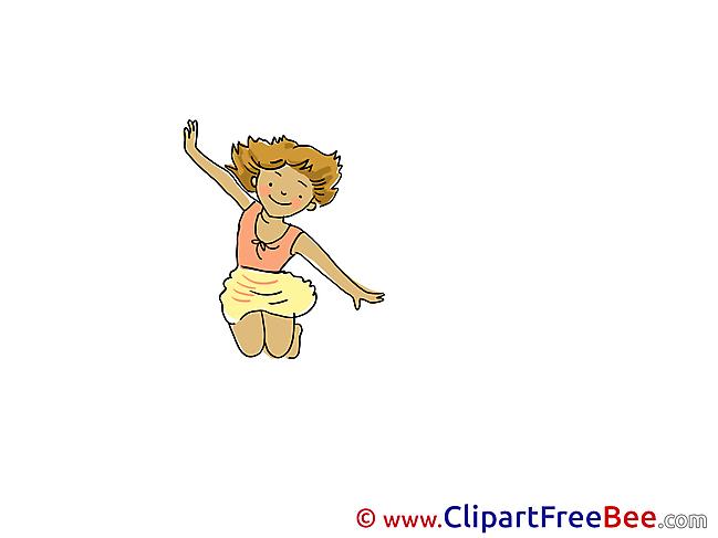 Girl jumps free Cliparts Vacation