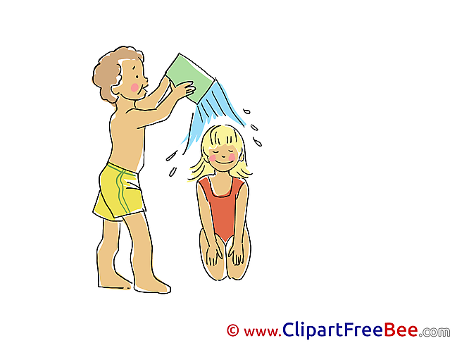 Pouring download Vacation Illustrations