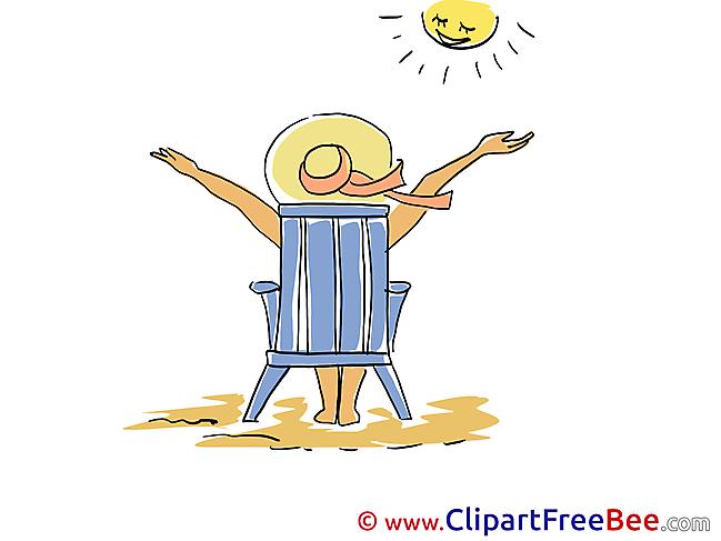Sunbathe free Illustration Vacation