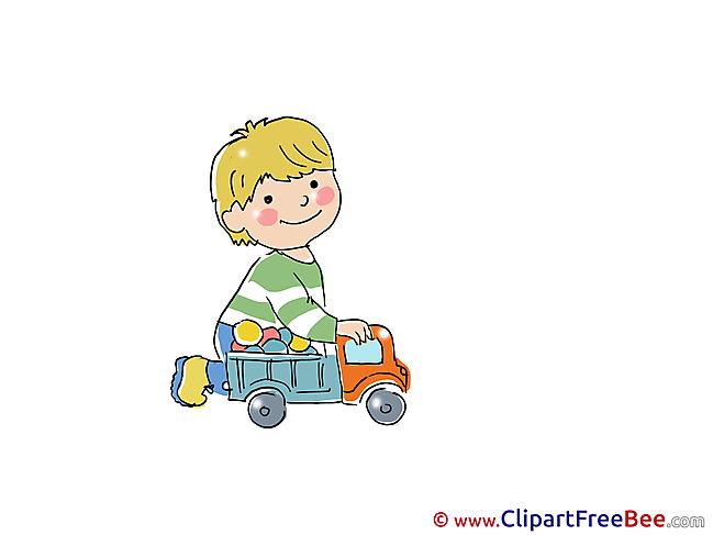 Cars Kid plays free Cliparts Kindergarten