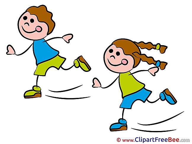 Clipart Skates Kindergarten Illustrations