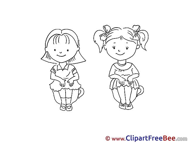 Coloring Kids free Illustration Kindergarten