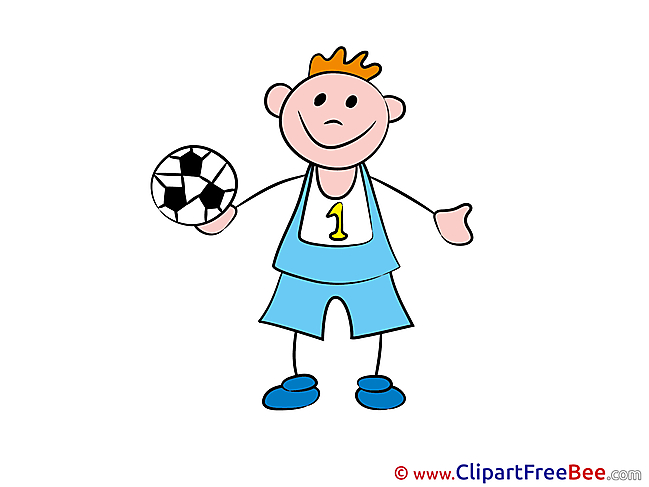 Football Boy Kindergarten Illustrations for free