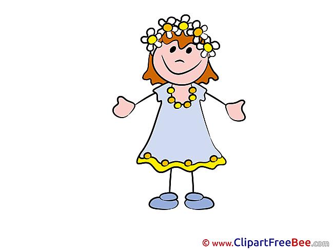 Girl download Kindergarten Illustrations