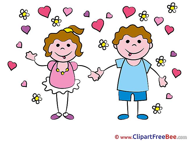 In Love Kids Kindergarten download Illustration