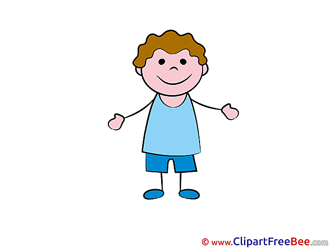 Little Boy Pics Kindergarten Illustration