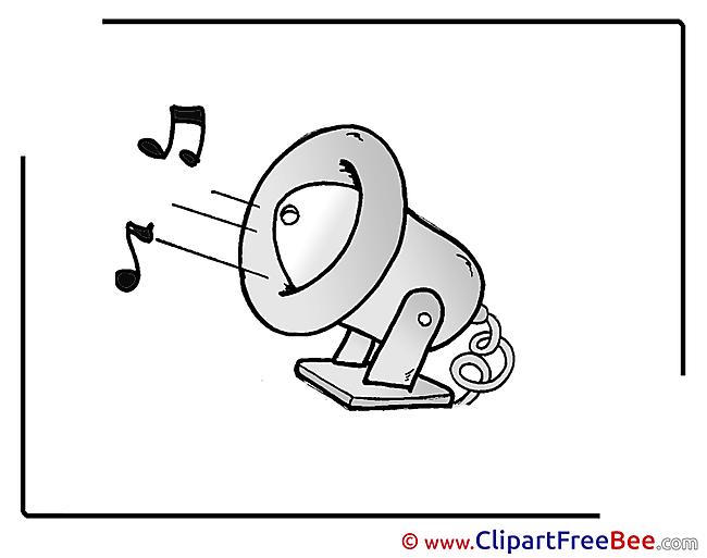 Loudspeaker free Illustration Kindergarten