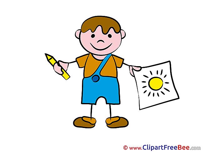 Painter Kid Pics Kindergarten free Cliparts