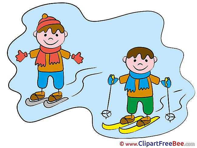 Ski Children Kindergarten Clip Art for free