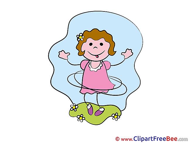 Turning Hoop Girl Cliparts Kindergarten for free
