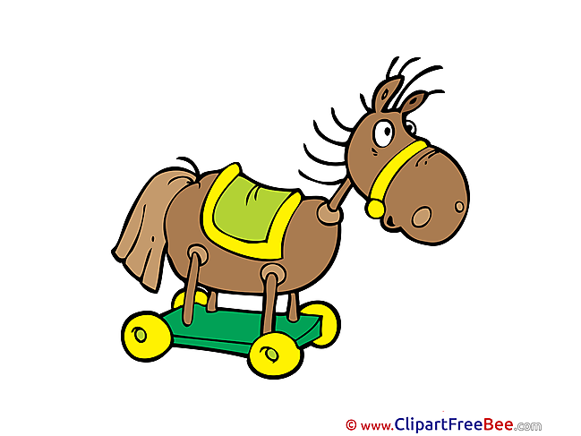 Wooden Horse Kindergarten Illustrations for free