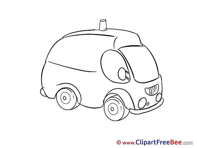 Ambulance Car free printable Cliparts and Images