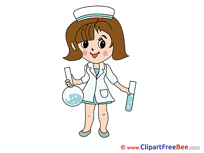 Flasks Nurse Clipart free Illustrations