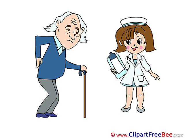 Old Man Nurse free printable Cliparts and Images
