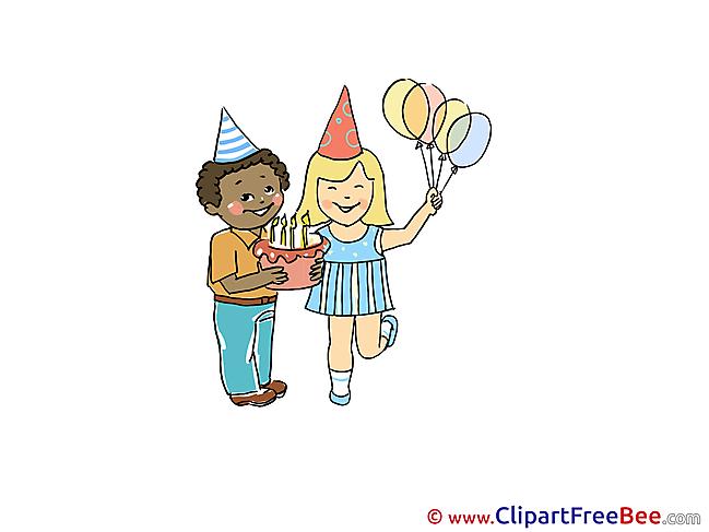 Anniversary Cake Balloons Pics Party free Image