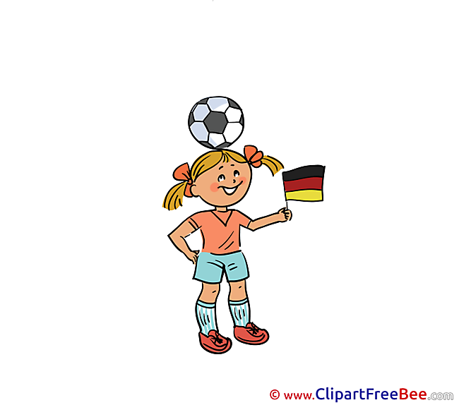Ball on Head Girl Cliparts Football for free