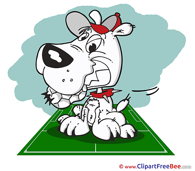 Dog Clip Art download Football