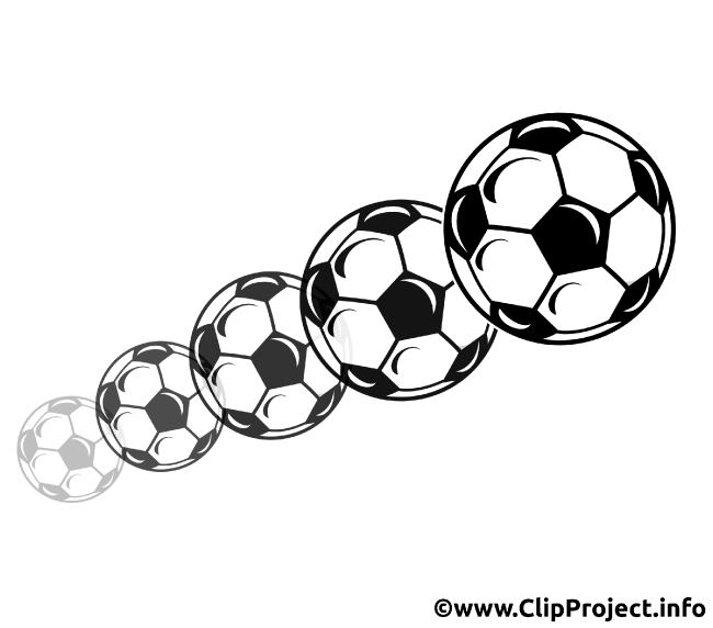 Flying Footballs Clipart
