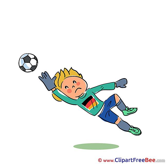 Goalkeeper Football Clip Art for free