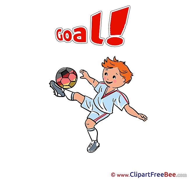 Kick Boy Football Clip Art for free