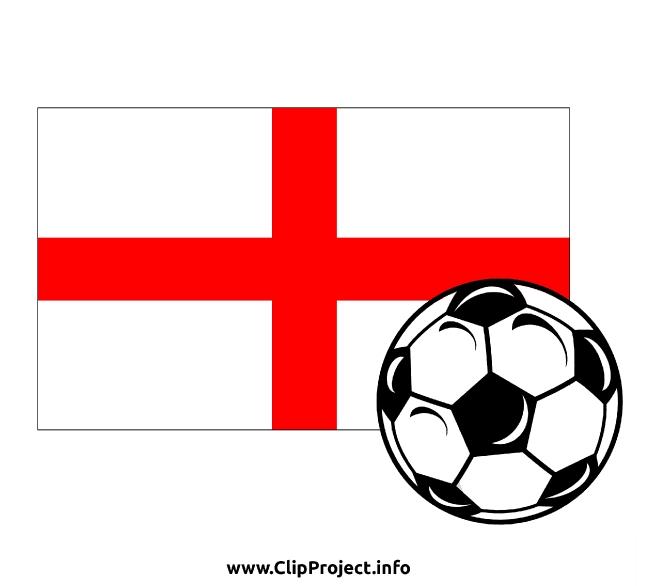 Soccer Ball with English flag