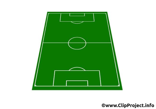 Soccer field 3D Clip Art