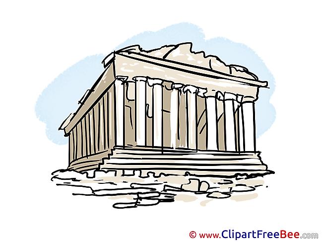 Acropolis Greece Clip Art download for free