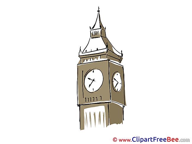 Big Ben London Pics printable Cliparts