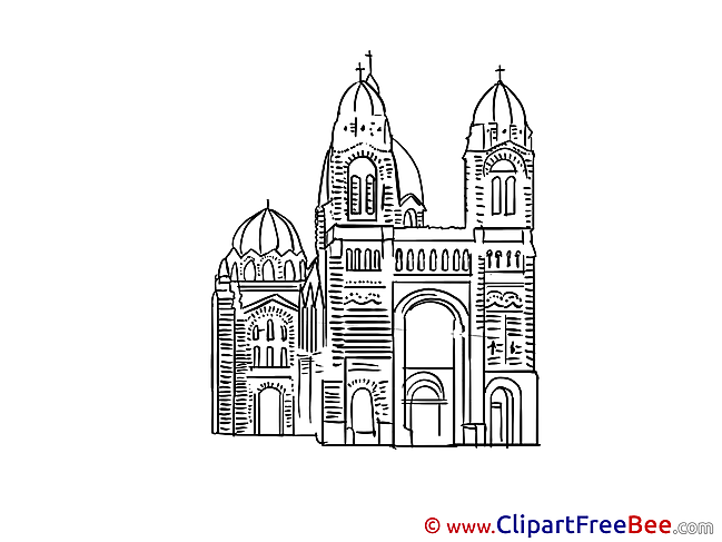 Coloring Cathedral Images download free Cliparts