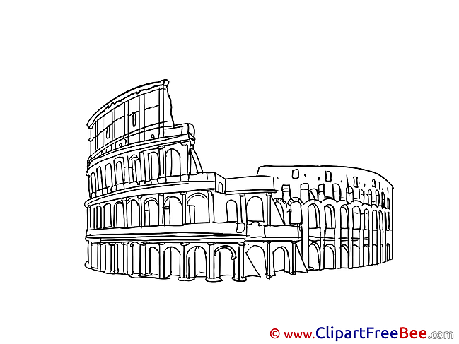 Colosseum Rome Clipart free Illustrations