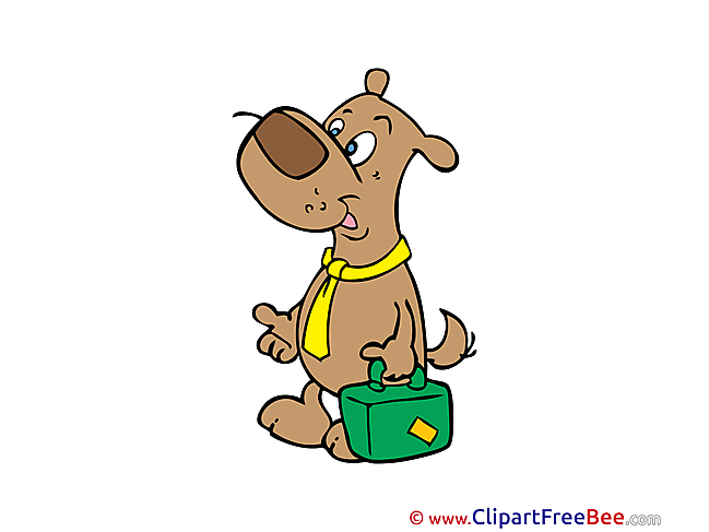 Dog with Suitcase Pics free download Image