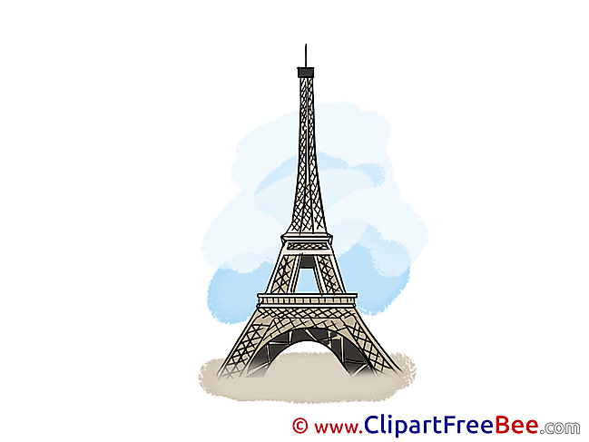 Eiffel Tower Cliparts printable for free