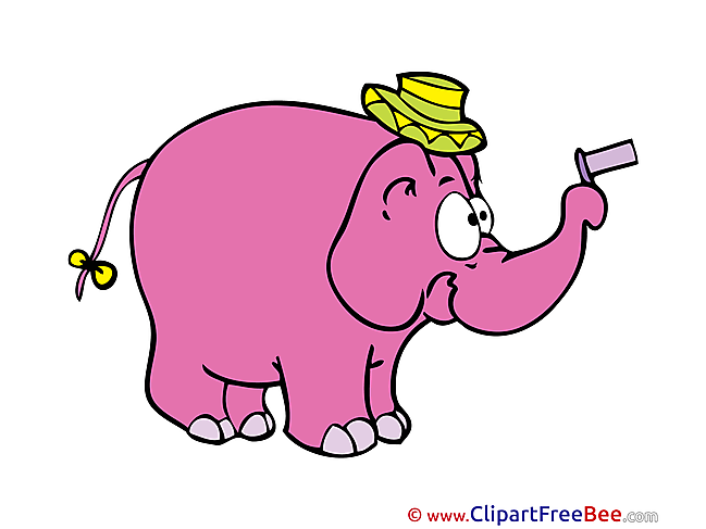 Elephant Pink printable Images for download