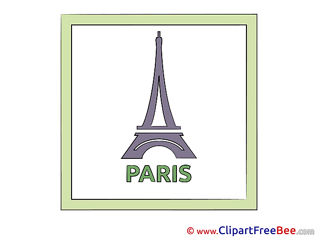 France Eiffel Tower Clipart free Illustrations