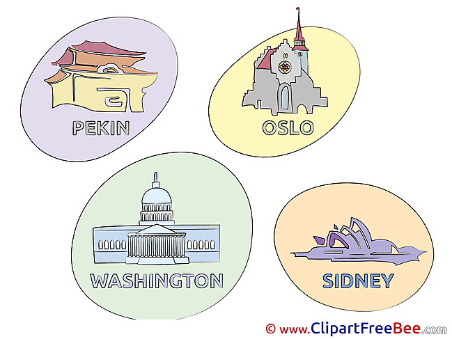 Magnets Cities Cliparts printable for free