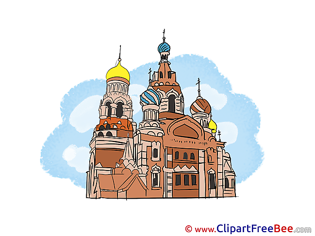 Moscow St. Basil's Cathedral Pics download Illustration